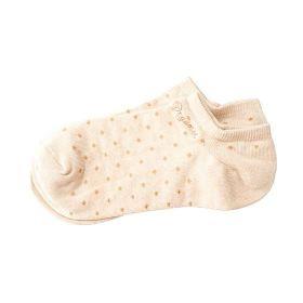 立襪船型襪21-24圓點棕