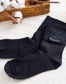 寬邊舒適襪 24-27 黑色
