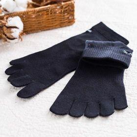 里仁五趾襪21-24cm(黑色)