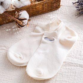 立體船型襪21-24白