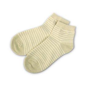 舒適短襪24-27條紋白